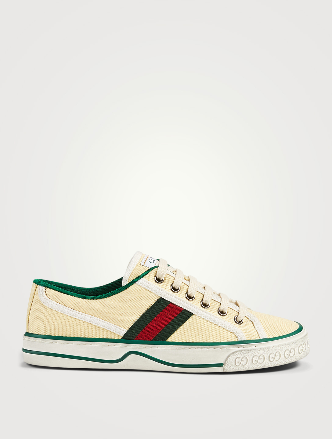 GUCCI Tennis 1977 Cotton Sneakers Women's White