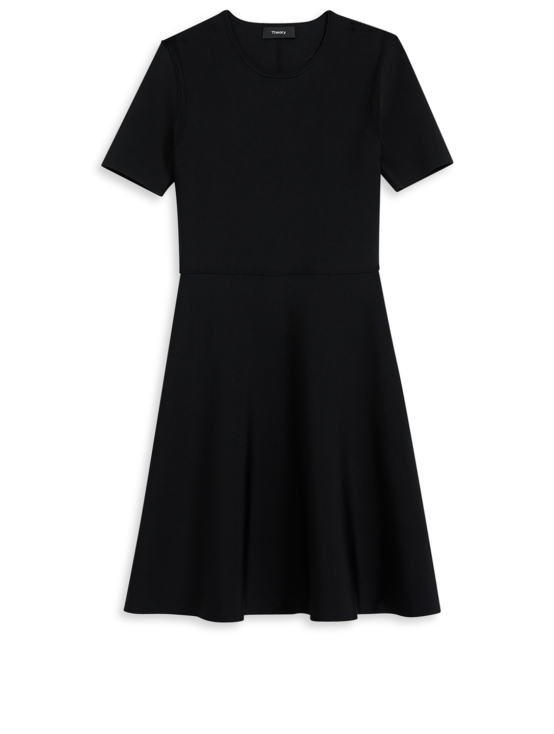 THEORY Short-Sleeve Knit Dress Women's Black