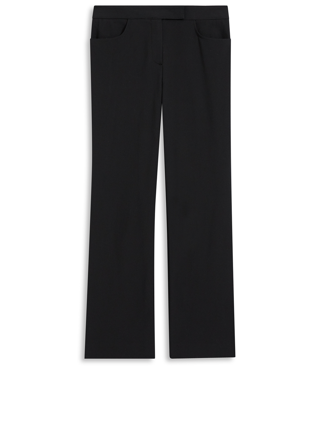 THEORY Cotton Stretch Cropped Pants Women's Black