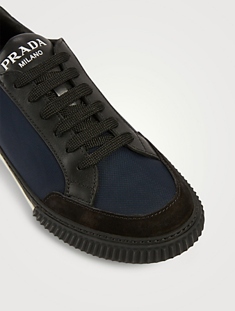 PRADA Suede And Nylon Sneakers Men's Blue