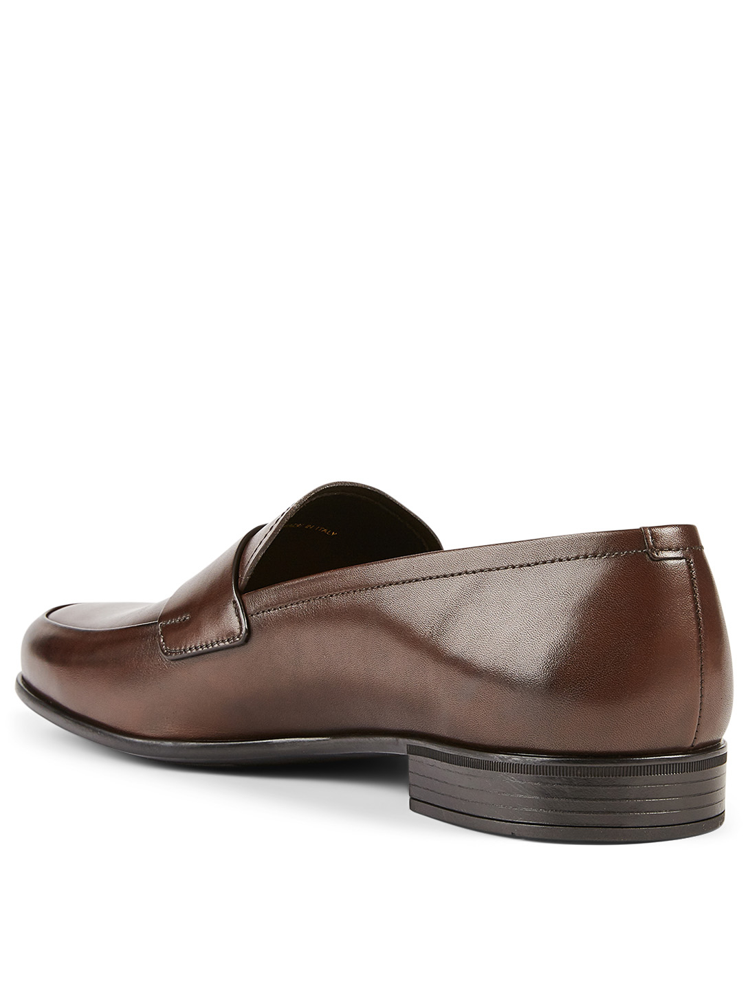 PRADA Leather Loafers Men's Brown