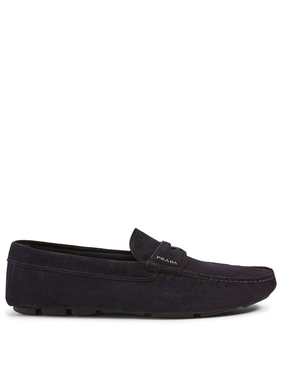 PRADA Suede Driver Shoes Men's Blue
