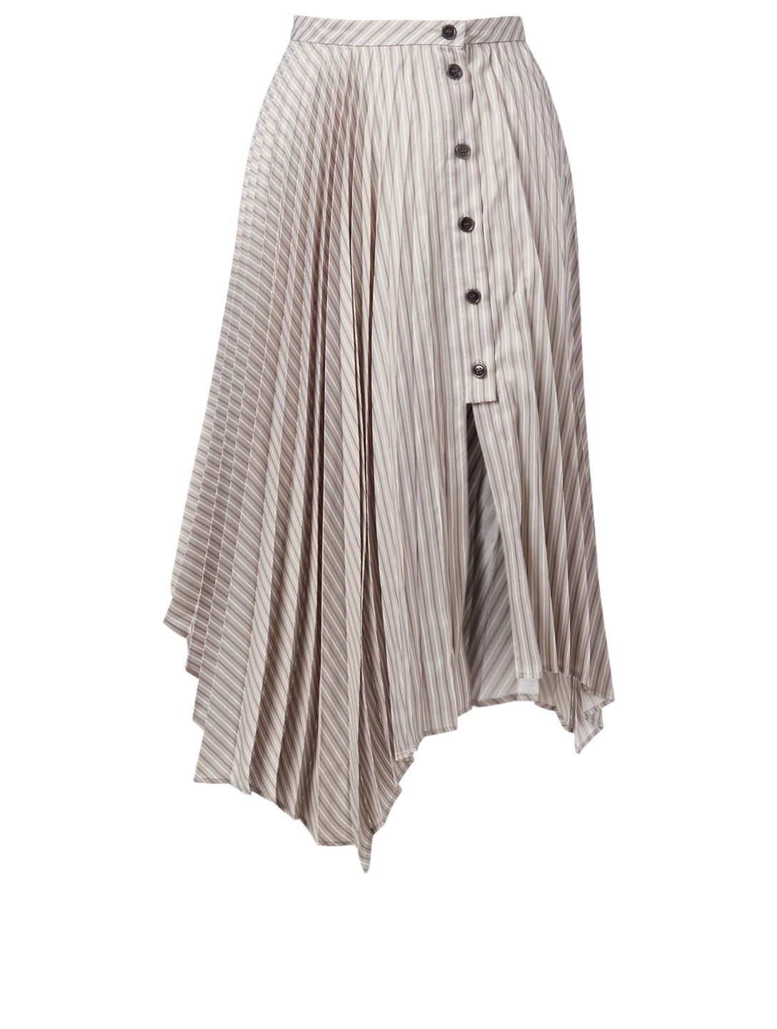 ACNE STUDIOS Pleated Asymmetric Midi Skirt Women's Grey