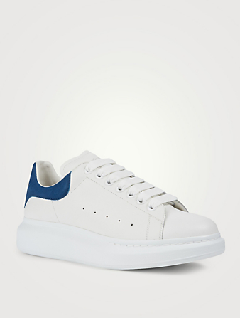 ALEXANDER MCQUEEN Oversized Leather Sneakers Men's White