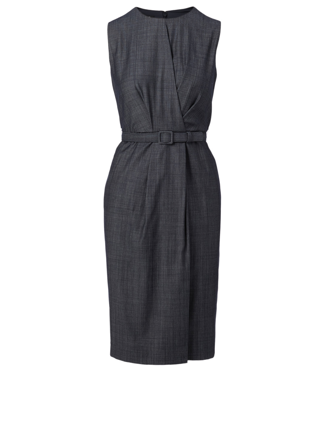 LAFAYETTE 148 NEW YORK Jude Wool-Blend Dress With Belt Women's Blue