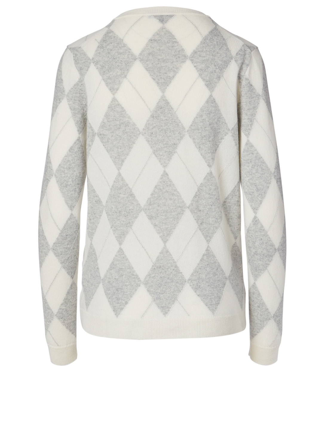 LAFAYETTE 148 NEW YORK Cashmere Argyle Sweater Women's Grey