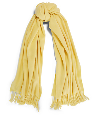 ACNE STUDIOS Canada New Wool Scarf With Fringe Women's Yellow
