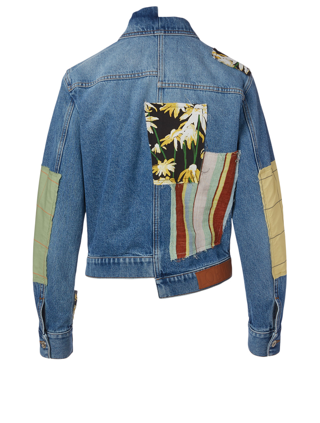 LOEWE Patchwork Denim Jacket Women's Blue