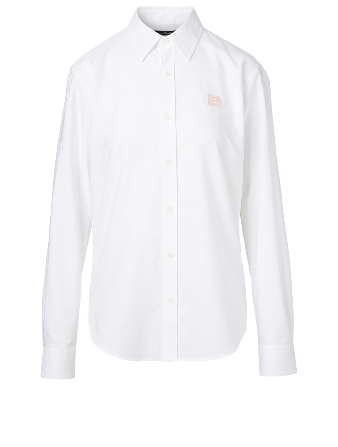 ACNE STUDIOS Cotton Logo Shirt Women's White