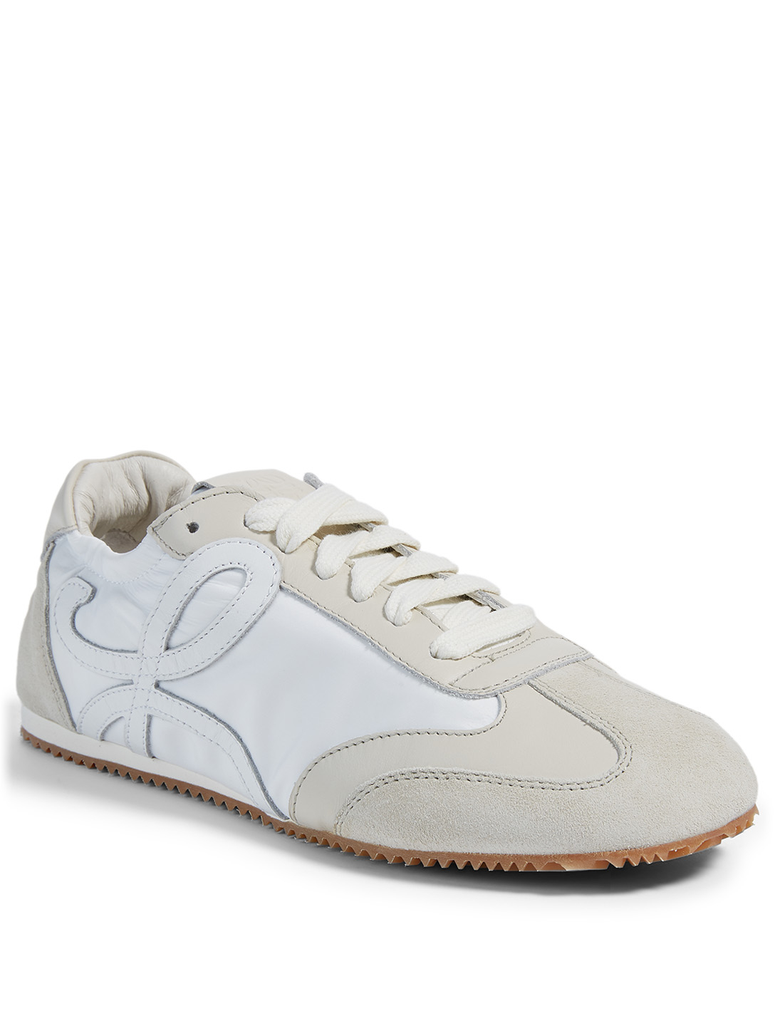 LOEWE Leather And Nylon Ballet Runner Sneakers Women's White