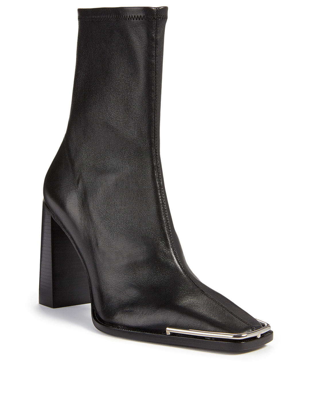 ALEXANDER WANG Mascha Halo Leather Heeled Ankle Boots Women's Black