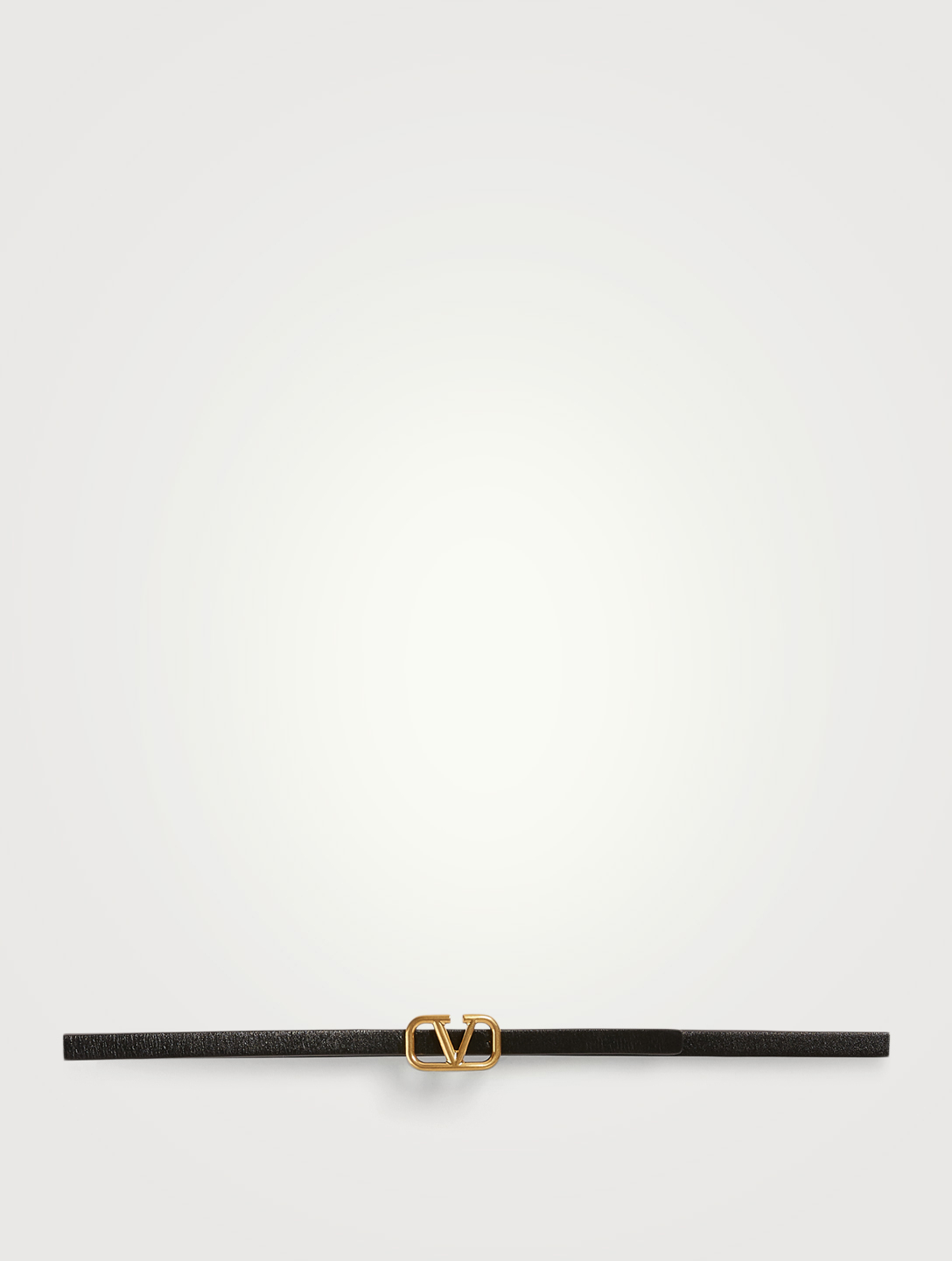 VALENTINO GARAVANI VLOGO Thin Reversible Leather Belt Women's Black
