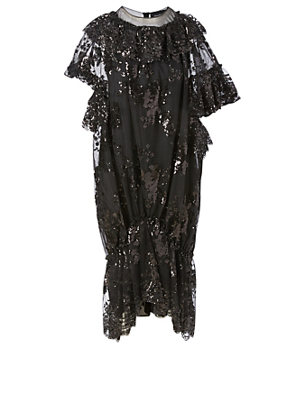 SIMONE ROCHA Sequin Midi Dress Women's Black