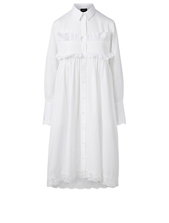 SIMONE ROCHA Long-Sleeve Frock Dress Women's White
