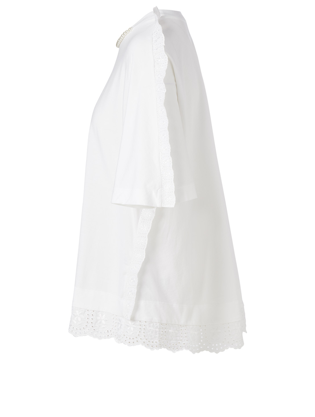 SIMONE ROCHA T-Shirt With Tulle Trim Women's White
