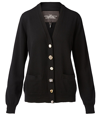 THE MARC JACOBS Wool And Cashmere Jewel Cardigan Women's Black