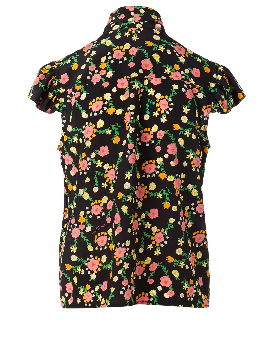 THE MARC JACOBS Silk Bow Blouse In Floral Print Women's Multi