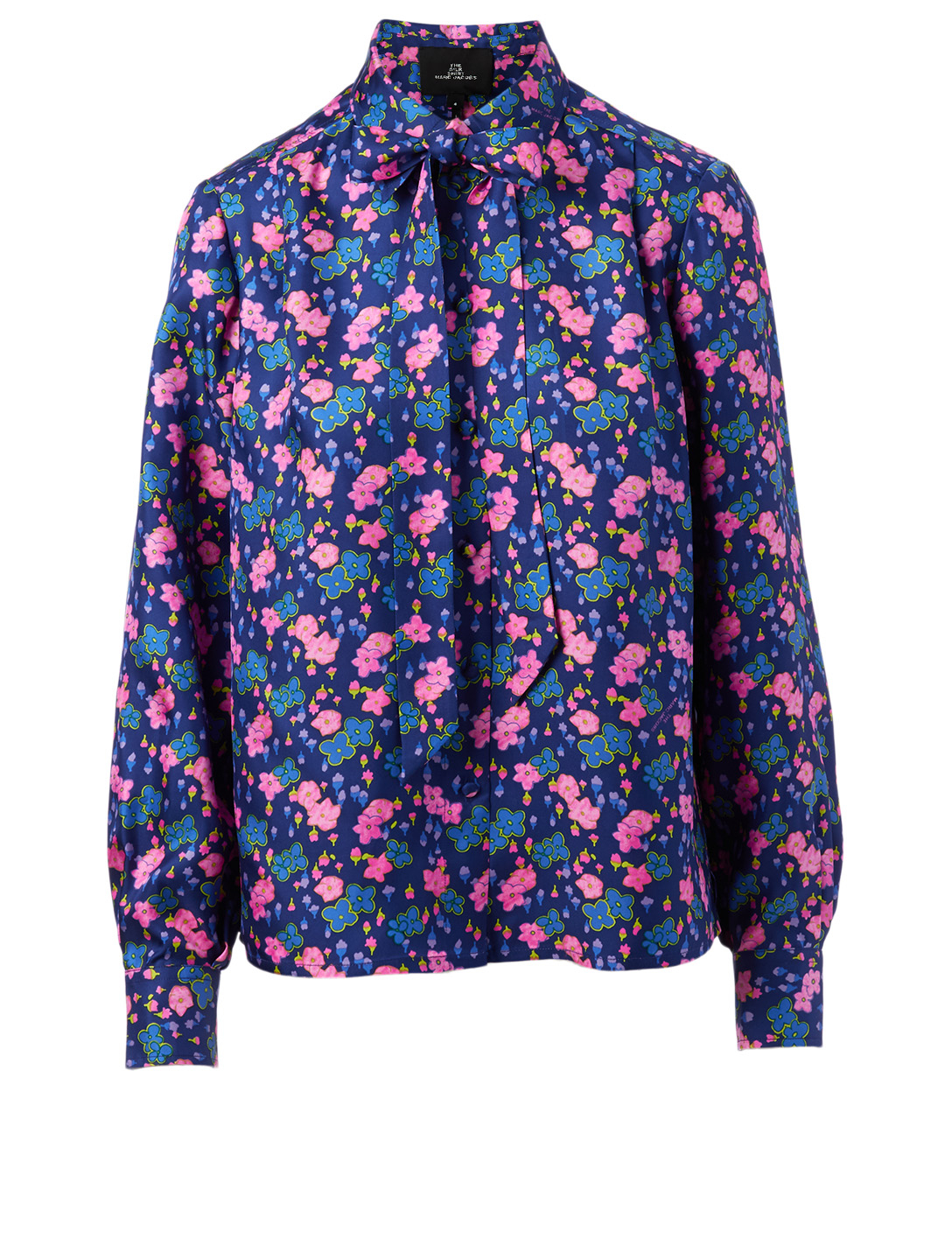 THE MARC JACOBS Silk Shirt In Floral Print Women's Blue