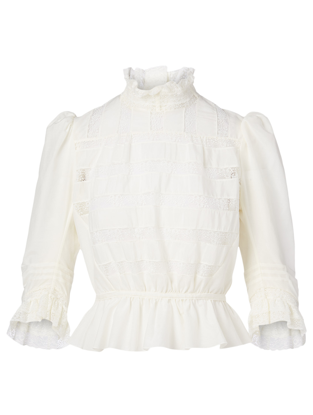 THE MARC JACOBS Victorian Cotton And Silk Blouse Women's White