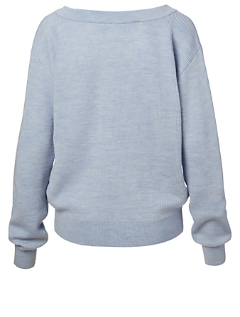 ALEXANDERWANG.T Wool Sweater With Tank Layer Women's Blue