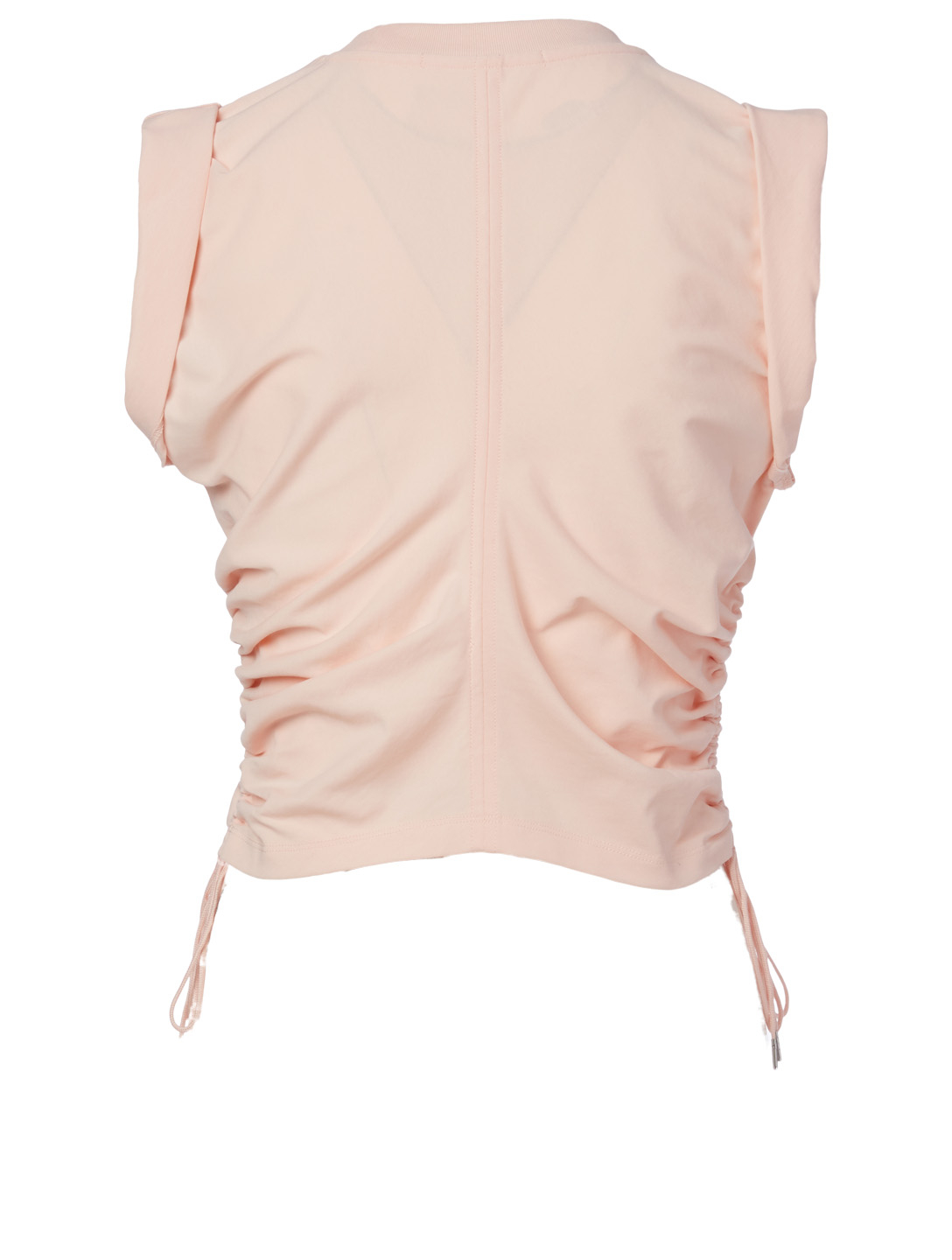 ALEXANDERWANG.T Cotton Crop Top With Side Tie Women's Pink