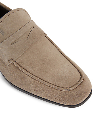 TOD'S Suede Penny Loafers Men's Beige