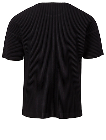 HOMME PLISSÉ ISSEY MIYAKE Pleated Roundneck T-Shirt Men's Black