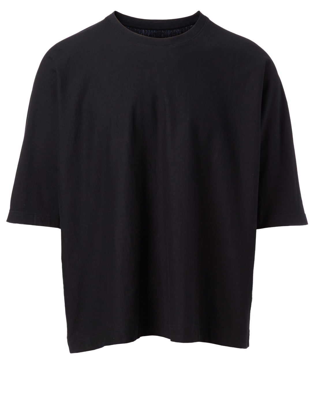 HOMME PLISSÉ ISSEY MIYAKE Cotton Oversized T-Shirt Men's Black
