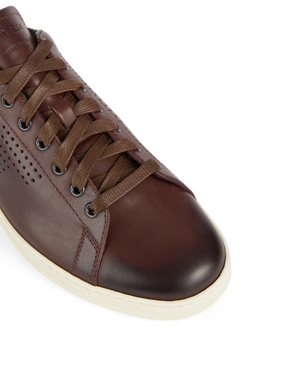 TOM FORD Warwick Leather Sneakers Men's Red