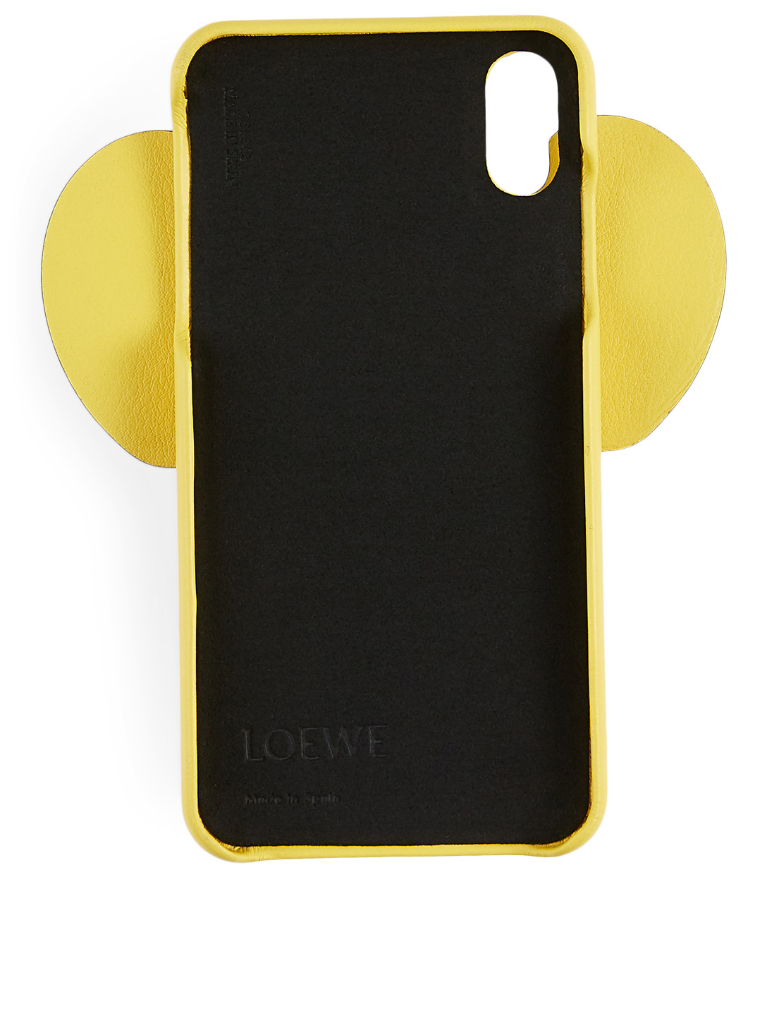 LOEWE XS Max Elephant Leather Phone Case Women's Yellow