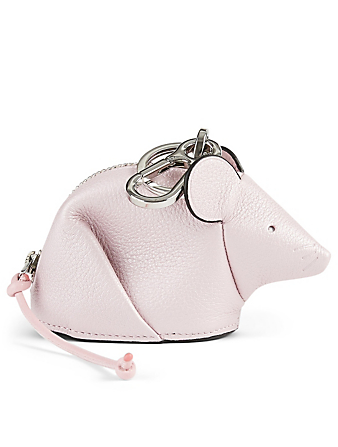 LOEWE Mouse Leather Coin Purse Women's Pink