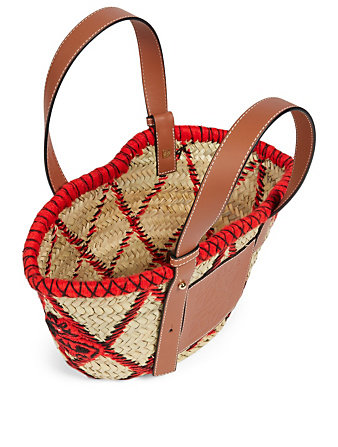 LOEWE Small Basket Animales Bag Women's Natural