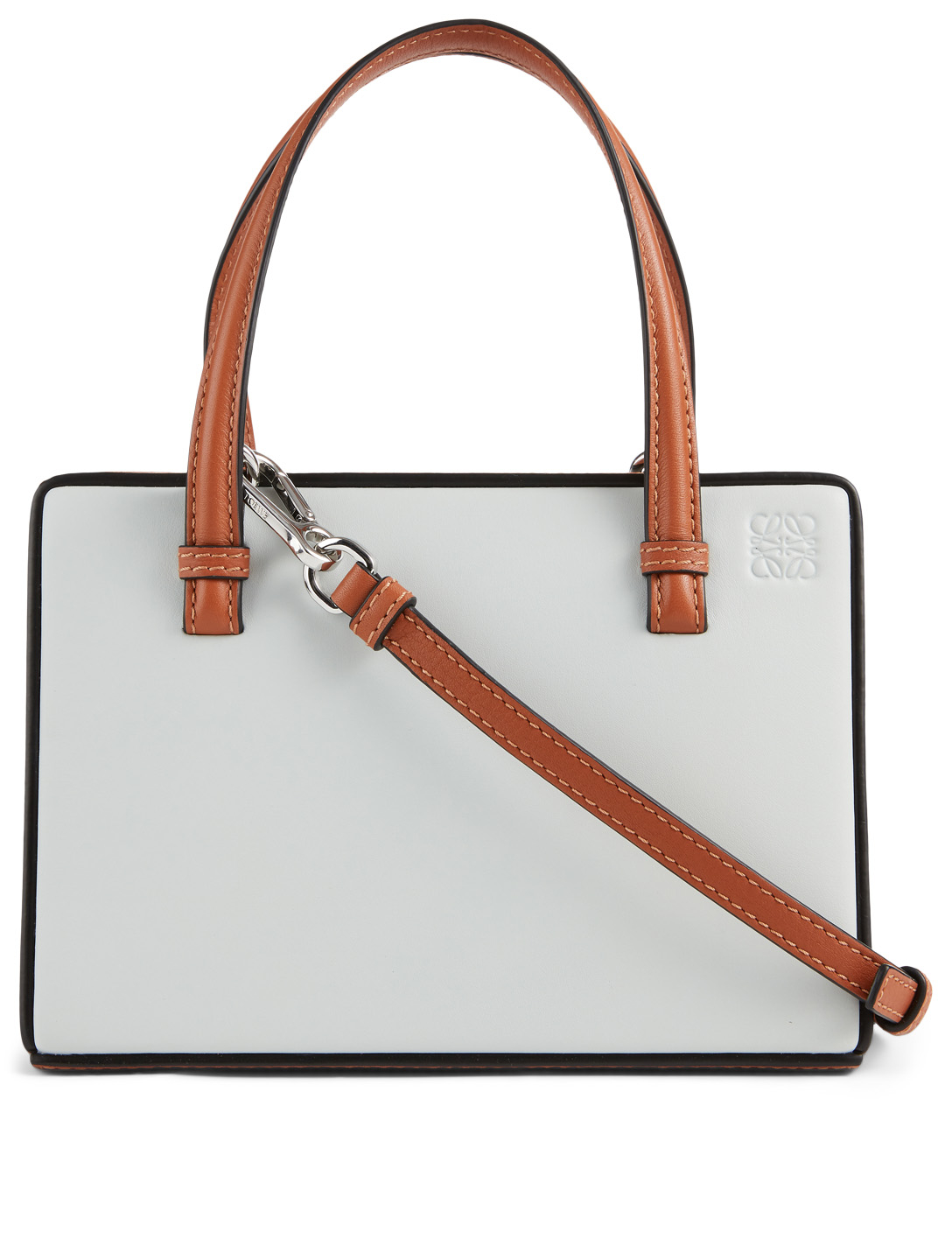 LOEWE Small Postal Leather Bag Women's White