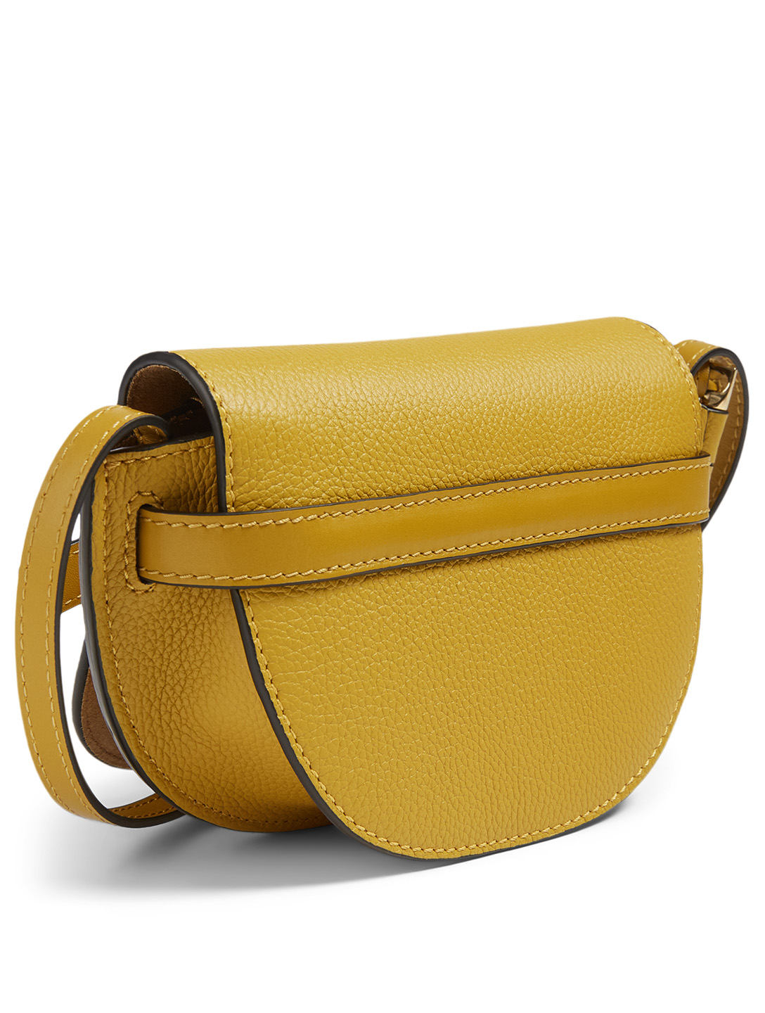 LOEWE Mini Gate Leather Crossbody Bag Women's Yellow