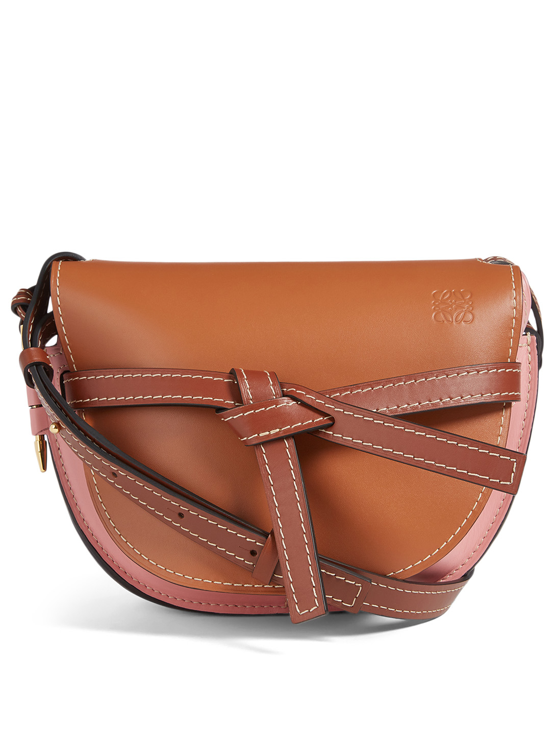 LOEWE Small Gate Leather Crossbody Bag Women's Brown