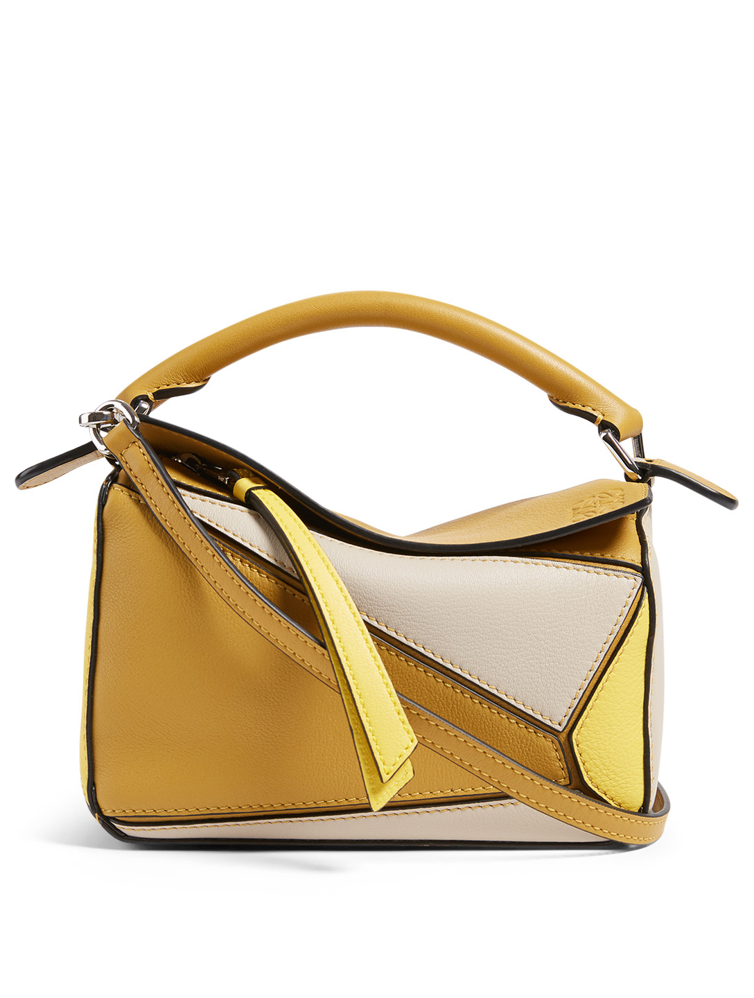 LOEWE Mini Puzzle Leather Bag Women's Yellow