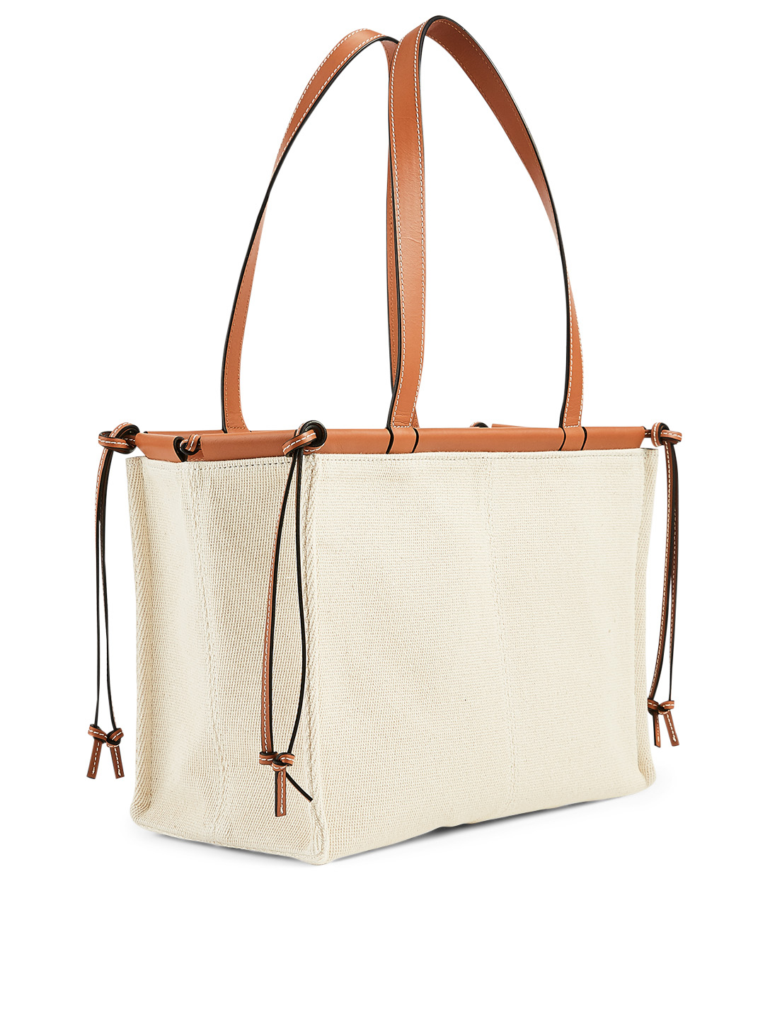 LOEWE Small Cushion Leather Tote Bag Women's Beige