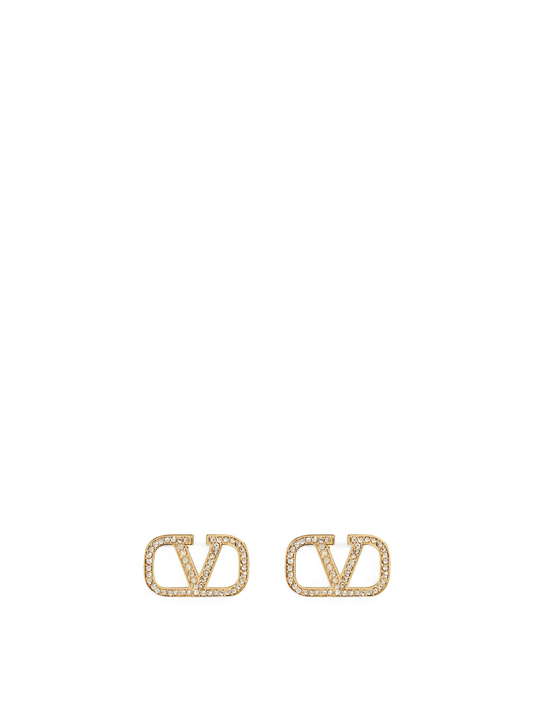 VALENTINO VLOGO Earrings With Crystals Women's Metallic