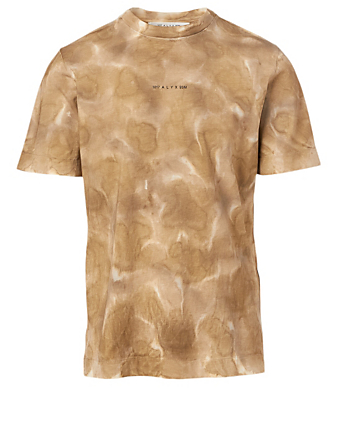 1017 ALYX 9SM Cotton T-Shirt In Abstract Print Men's Beige