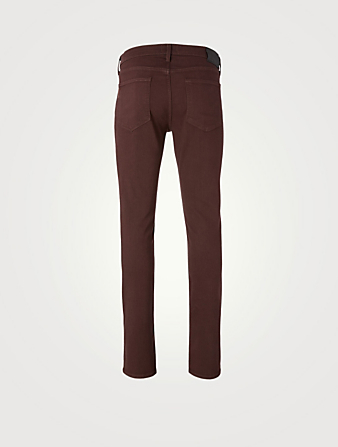 PAIGE Lennox Slim-Fit Jeans Men's Red