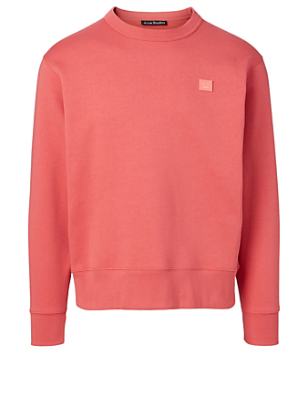 ACNE STUDIOS Pull molletonné Fairview Face Hommes Rouge