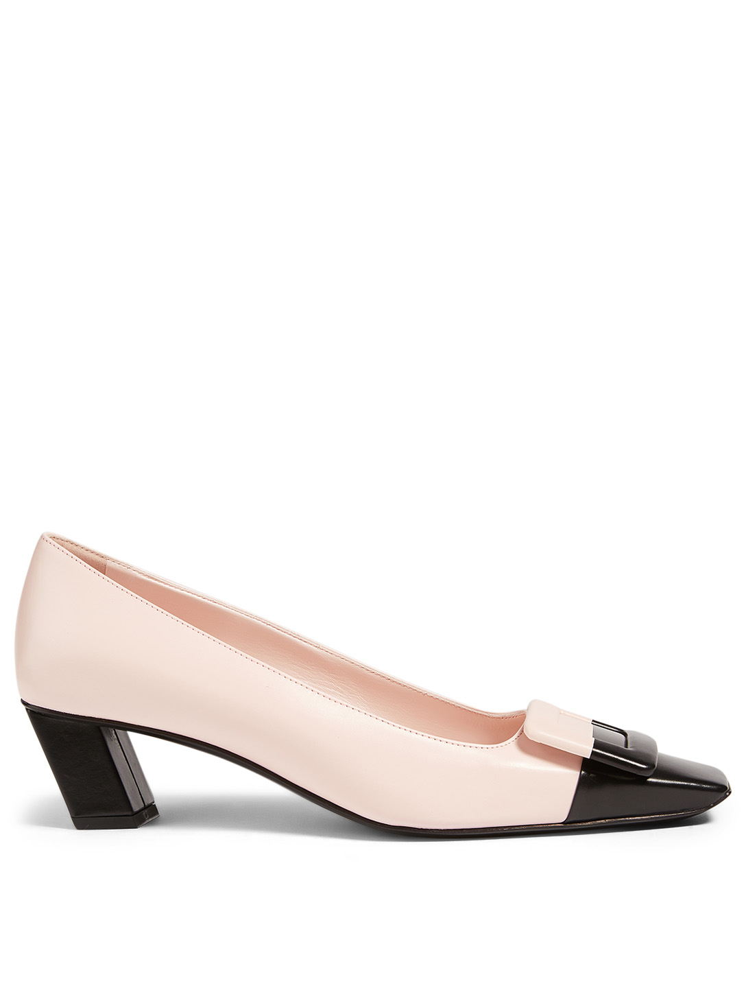ROGER VIVIER Belle Vivier 45 Patent Leather Pumps Women's Pink