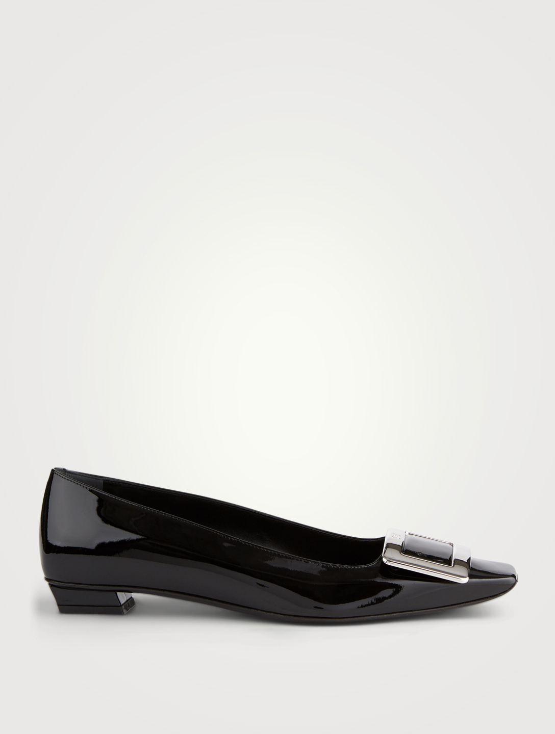 ROGER VIVIER Belle Vivier 25 Patent Leather Pumps Women's Black