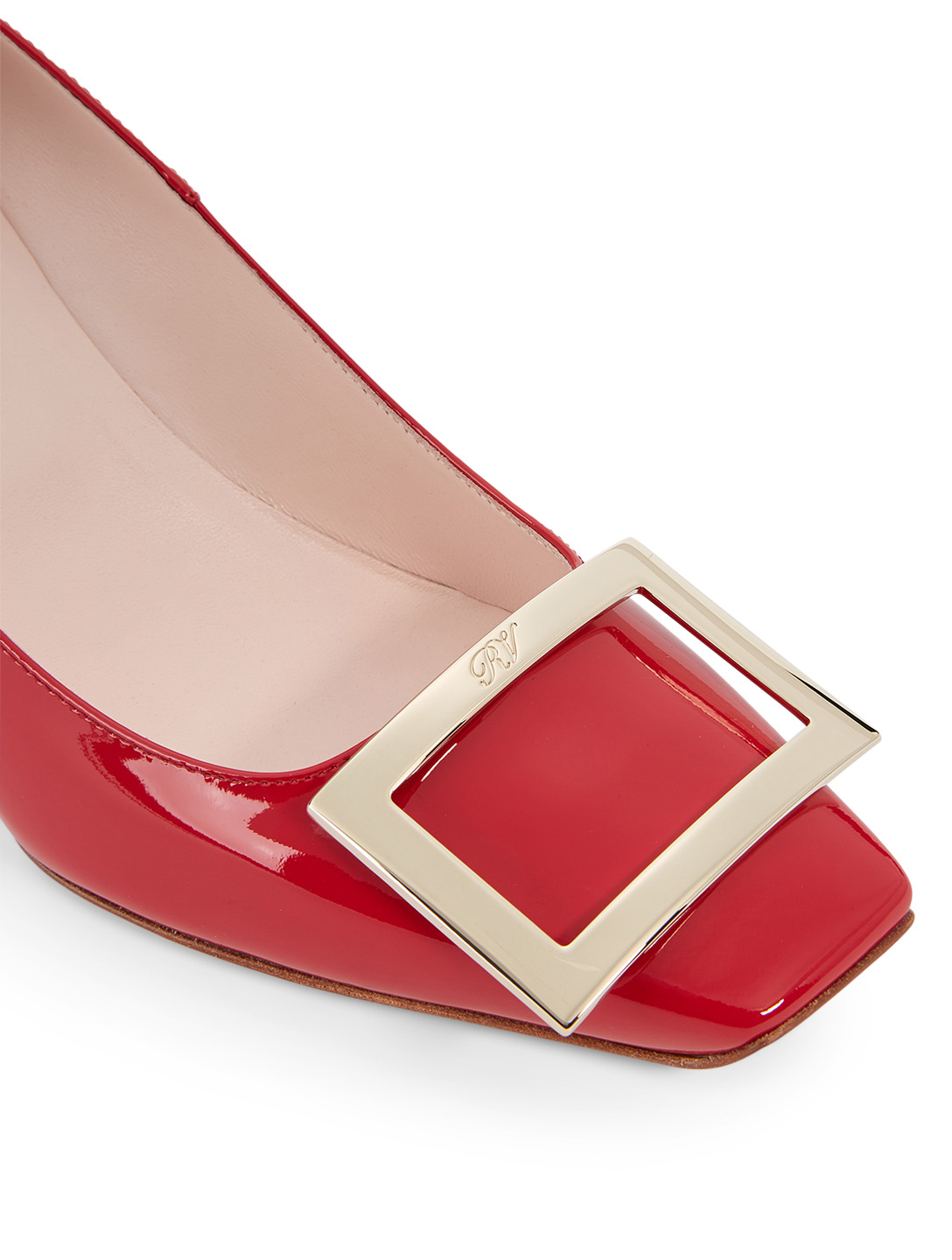 ROGER VIVIER Belle Vivier Trompette 70 Patent Leather Pumps Women's Red