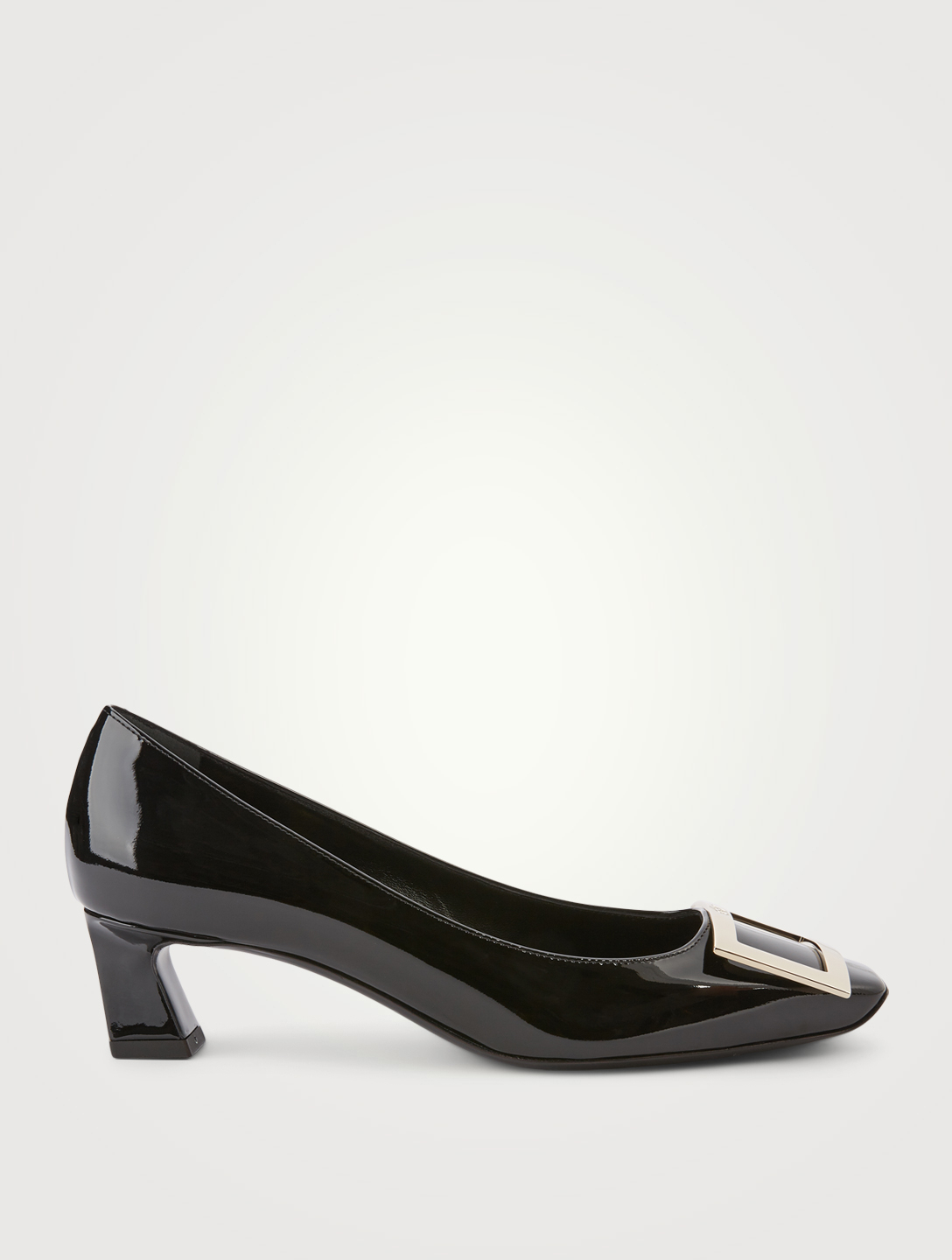 ROGER VIVIER Belle Vivier Trompette 45 Patent Leather Pumps Women's Black