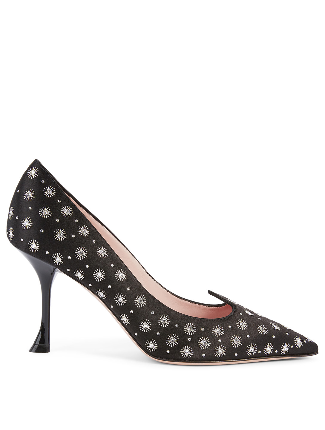 ROGER VIVIER I Love Vivier Décolleté 85 Crystal Mini Star Satin Pumps Women's Black