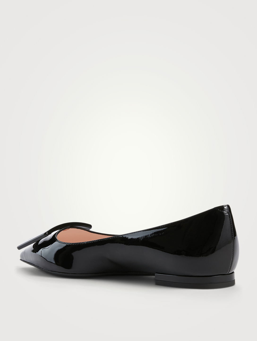 ROGER VIVIER Gommettine 05 Patent Leather Ballet Flats Women's Black