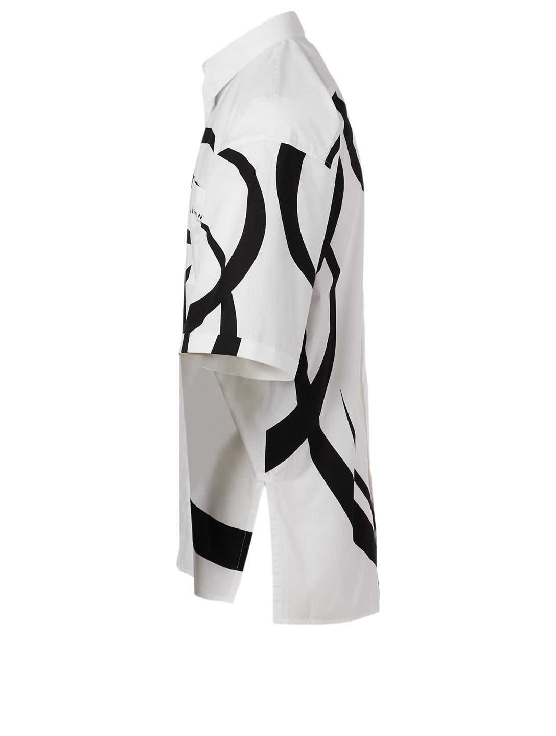 GIVENCHY Oversized Shirt In Calligraphic Print Men's Multi
