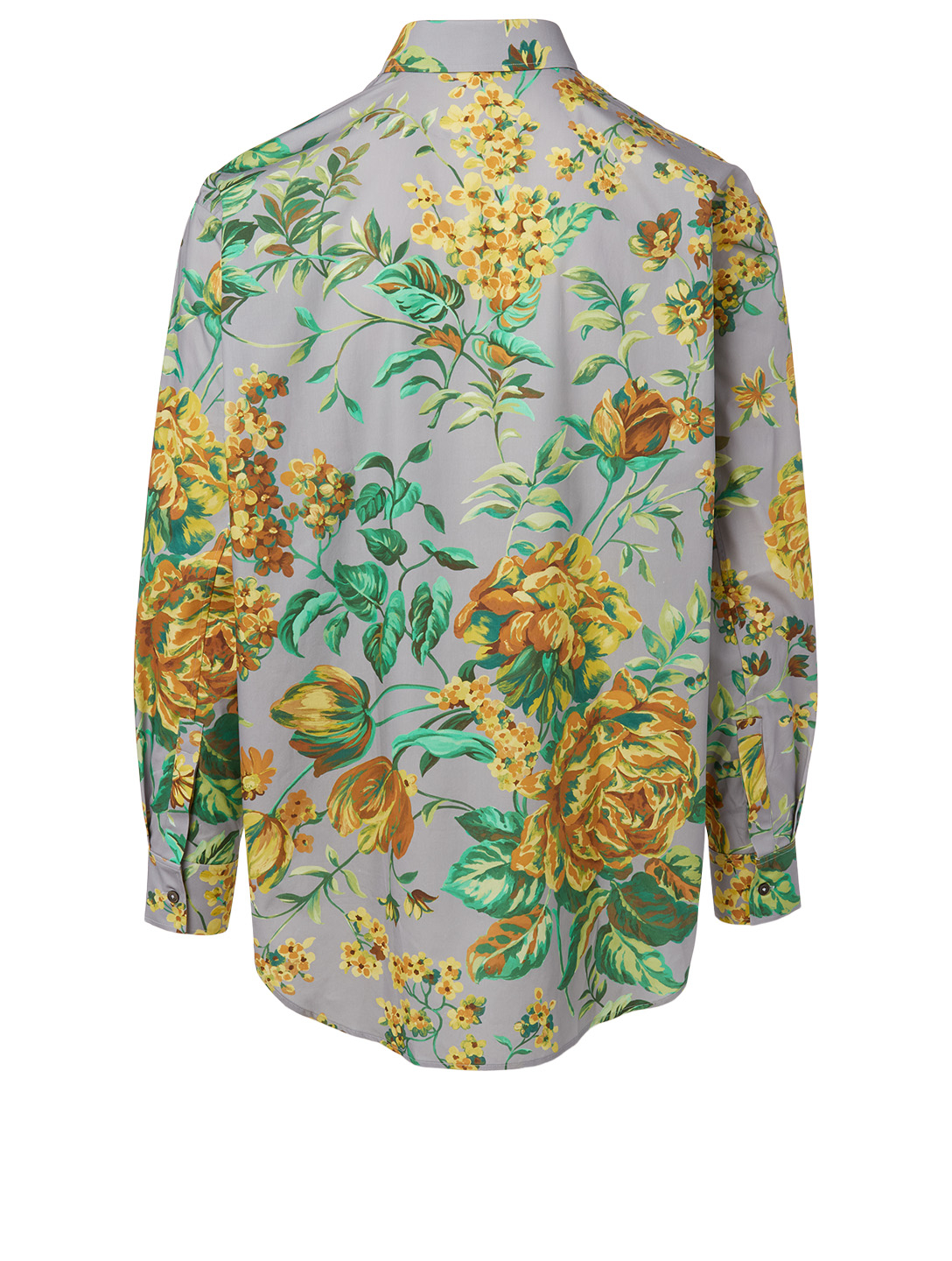GIVENCHY Cotton Shirt In Floral Print Men's Grey