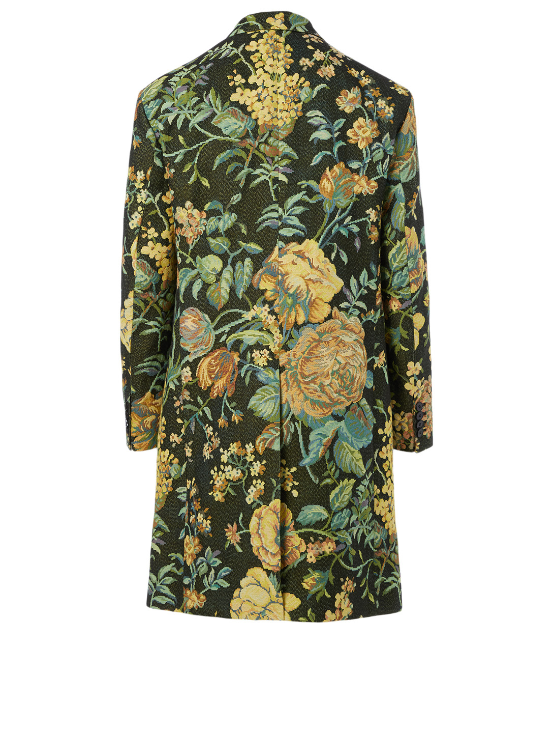 GIVENCHY Jacquard Oversized Coat In Floral Print Men's Black